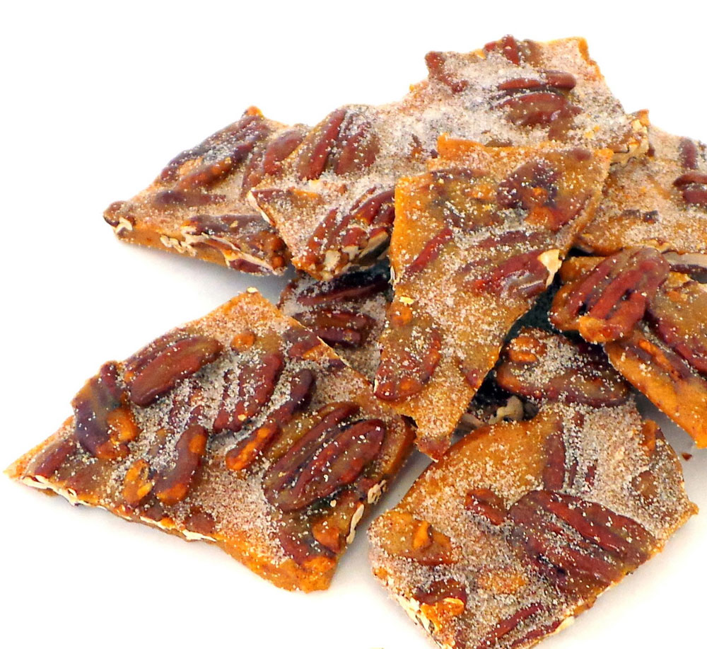 Cinnamon Spiced Pecan Brittle