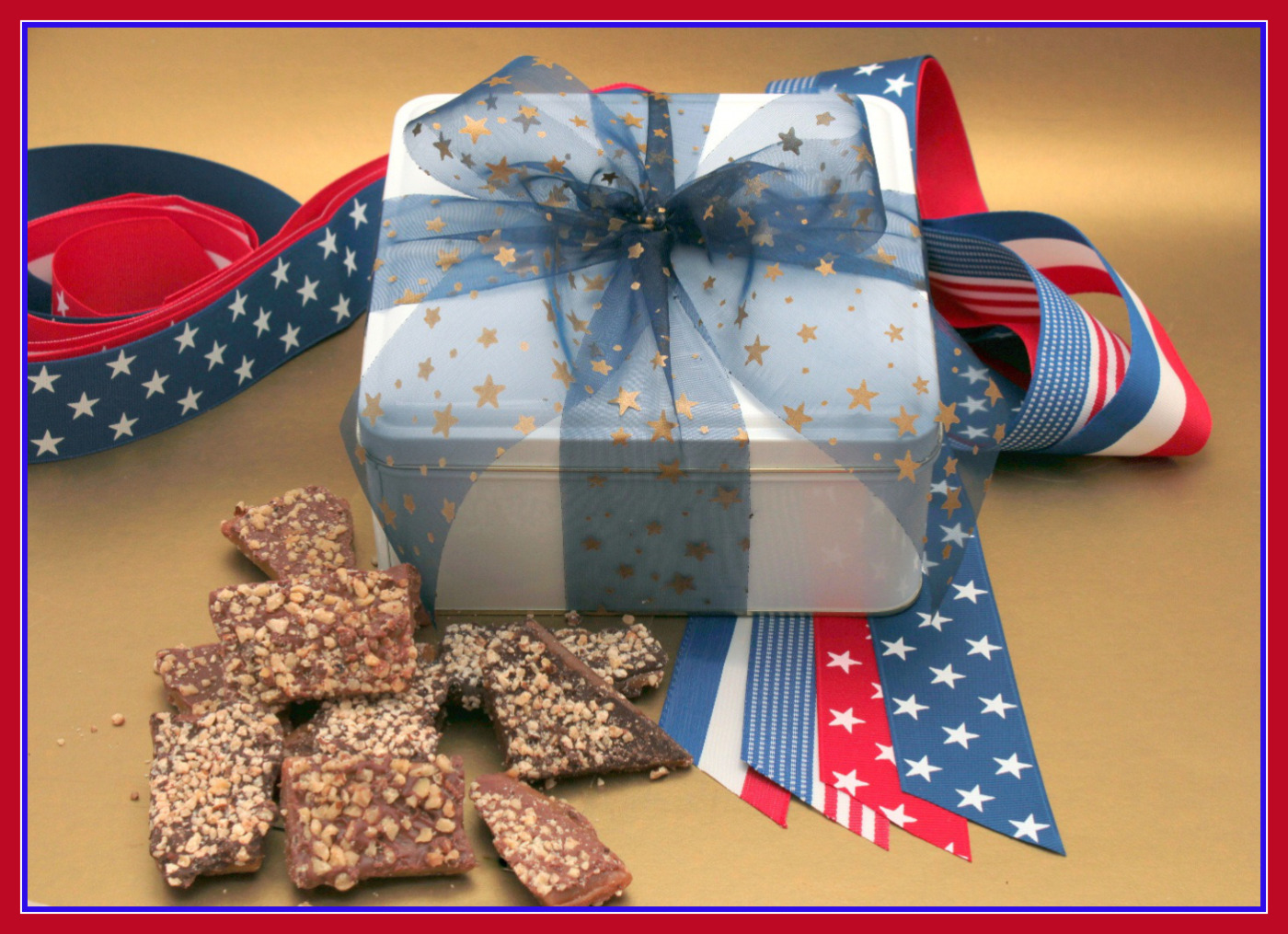 4th of July 1 ¼ pounds Toffee